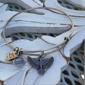Alex & Ani American Eagle Silver Tone Bracelet